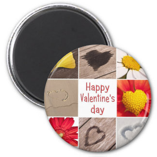 Heart joining Happy Valentine' S day 2 Inch Round Magnet