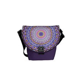 Heart Joy Mandala Kaleidoscope Pattern Courier Bag