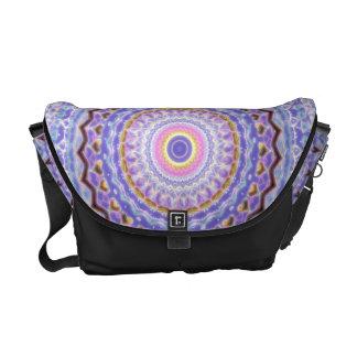 Heart Joy Mandala Kaleidoscope Pattern Messenger Bag