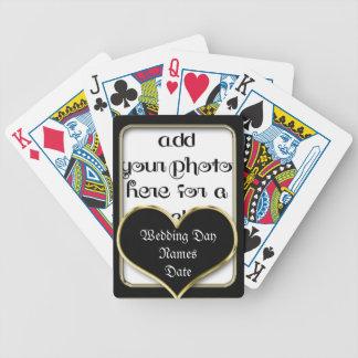 Heart Keepsake Wedding Template Playing Cards