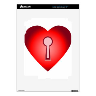 Heart Key Decals For The iPad 2