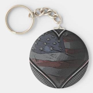 Heart keychain (Metal America)