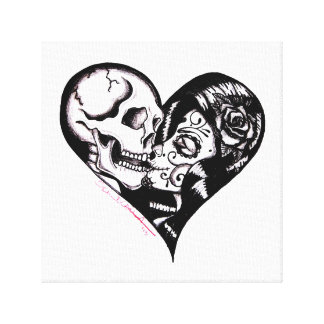 """Heart Kiss"" by Skinderella - Canvas Art"