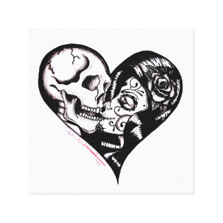 Heart Kiss by Skinderella Canvas Print