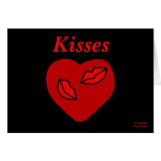Heart Kisses Horizontal Greeting Card