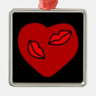 Heart Kisses Ornament.