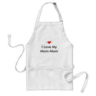 Heart-Kissing, I Love My Mom-Mom Adult Apron