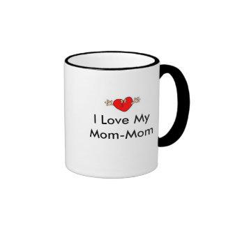 Heart-Kissing, I Love My Mom-Mom Ringer Coffee Mug