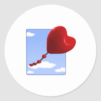 Heart Kite 2 Classic Round Sticker