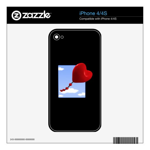 Heart Kite 2 Decal For The iPhone 4