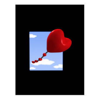 Heart Kite 2 Postcard