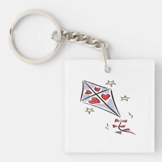 Heart Kite 3 Keychain