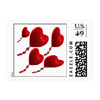 Heart Kites Postage Stamps