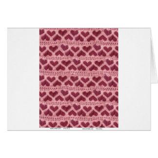 heart knitwear card