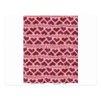 heart knitwear postcard