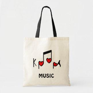 Heart Korean Pop music!  KPOP! Budget Tote Bag