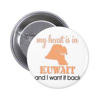 Heart Kuwait 2 Inch Round Button
