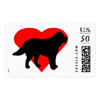 Heart Labradore Retriever Postage