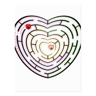 HEART LABYRINTH POSTCARD