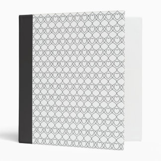Heart Lace - White with Spine 3 Ring Binder
