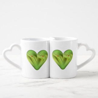 heart ladybug coffee mug set