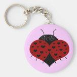Heart ladybug key chain