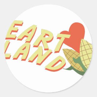 Heart Land Classic Round Sticker
