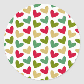 Heart Large Round Stickers