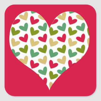 """""""Heart"""" Large Square Stickers"""