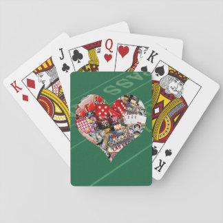 Heart - Las Vegas Playing Card Shape Card Decks