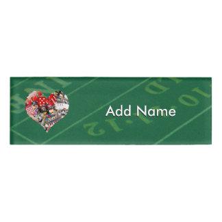Heart - Las Vegas Playing Card Shape Name Tag