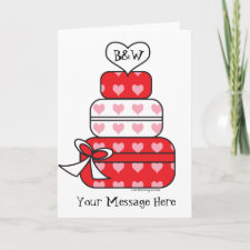 Heart Layer Cake Cards