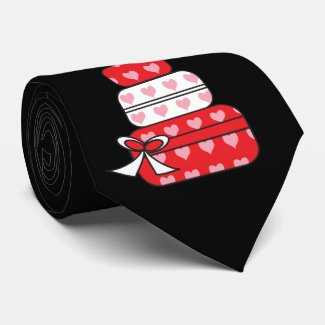 Heart Layer Cake Tie