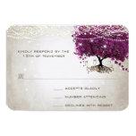 Heart Leaf Dark Sangria Tree Wedding Announcement