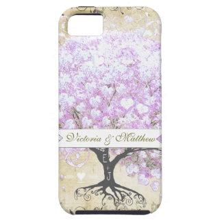 Heart Leaf Lavender Tree Vintage Bird Wedding iPhone 5 Covers