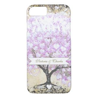 Heart Leaf Lavender Tree Vintage Bird Wedding iPhone 7 Case