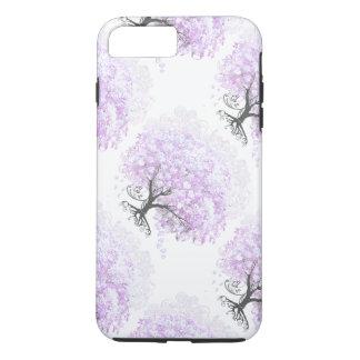 Heart Leaf Lavender Tree Vintage Bird Wedding iPhone 8 Plus/7 Plus Case
