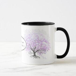 Heart Leaf Lavender Tree Vintage Bird Wedding Mug