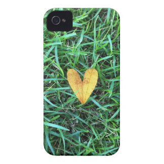 Heart Leaf on the grass iPhone 4 Case-Mate Case