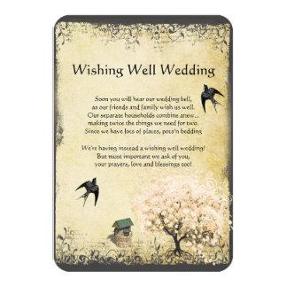 Wedding Wishing Well Cards Wedding Wishing Well Card Templates Postage Invitations