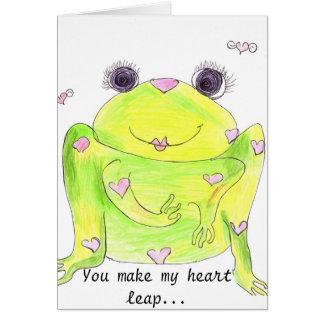 Heart Leap Card