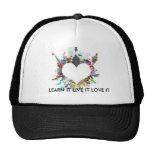 heart, LEARN IT LIVE IT LOVE IT Trucker Hat
