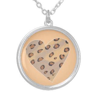Heart Leopards, Custom Pendant Necklace
