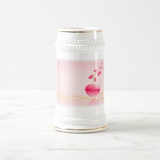 Heart Life Beer Stein Coffee Mug