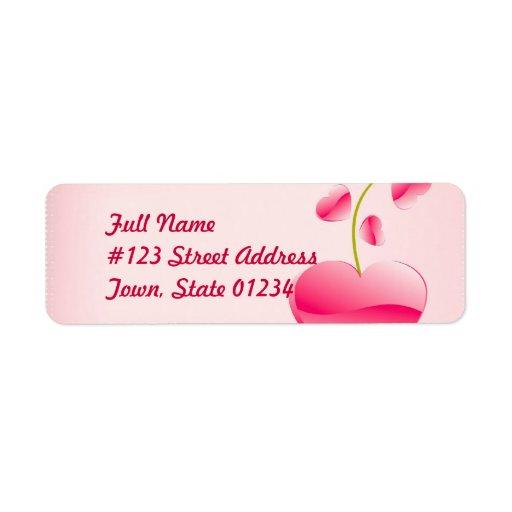 Heart Life Mailing Label Return Address Label