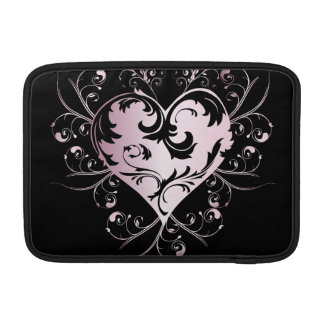 Heart light pink MacBook sleeve