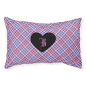 Heart light shades monogram pet bed small dog bed