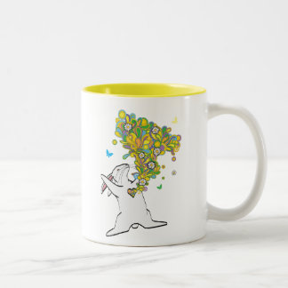 HEART LIGHT Two-Tone COFFEE MUG