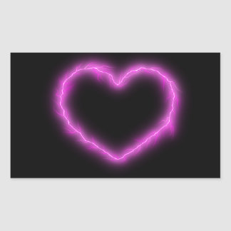 Heart Lightning Rectangular Sticker