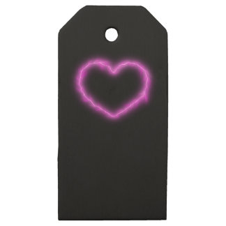 Heart Lightning Wooden Gift Tags